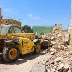 Profesionales en trabajos en excavaciones